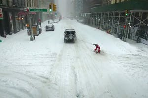 Snowboarding in NYC