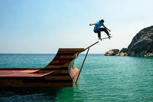 Bob Burnquist's Floating Halfpipe