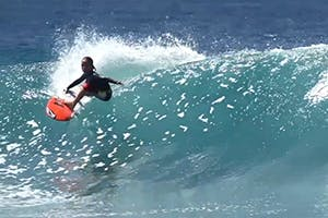 8-YEAR-OLD KOBI CLEMENTS SURFS THE MALDIVES