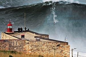Nazare on Fire