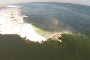 ANOTHER DAY IN PARADISE: AERIAL SURFING FOOTAGE FROM SKELETON BAY IN NAMIBIA