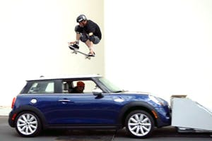 Tony Hawk Jumps a Moving Car