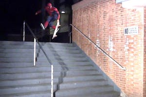 Spider-Man Skateboarding