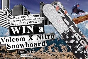Win a Volcom x Nitro Snowboard