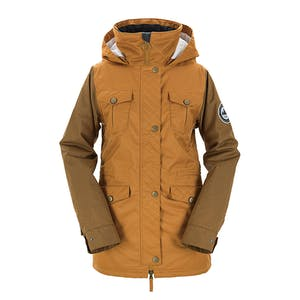 3CS Brunswick Women's Snowboard Jacket 2018 - Rust
