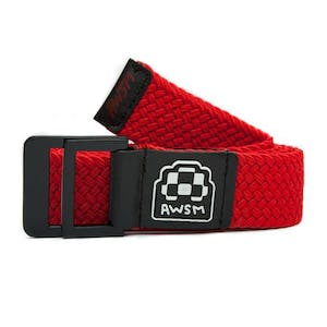 AWSM Nicole Belt — Red/Black
