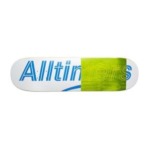 """Alltimers Trace Logo 8.25"""" Skateboard Deck - White"""