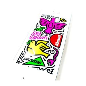 "Almost Sky Brown Doodle 8.0"" Skateboard Deck - White"