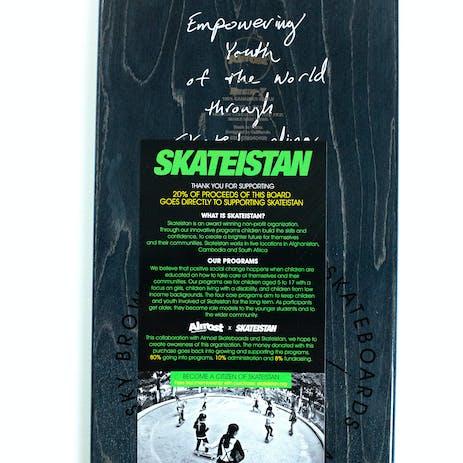 """Almost Sky Brown Doodle 7.75"""" Skateboard Deck - Mint"""