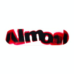 "Almost Spin Blur Logo 7.75"" Skateboard Deck - Red"