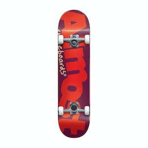 "Almost Bent Logo 7.0"" Youth Complete Skateboard - Burgundy"