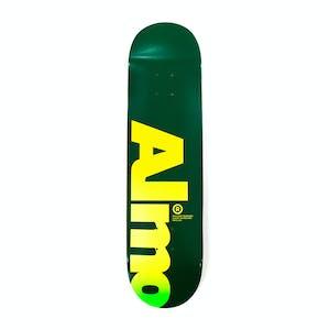 "Almost Fall Off Logo 8.25"" Skateboard Deck - Green"