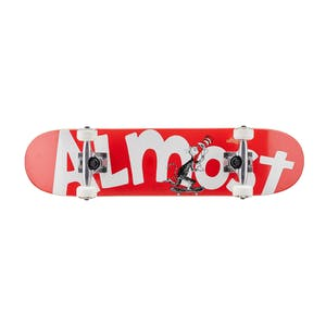 "Almost x Dr. Seuss Cat Push Youth 7.0"" Complete Skateboard - Red"