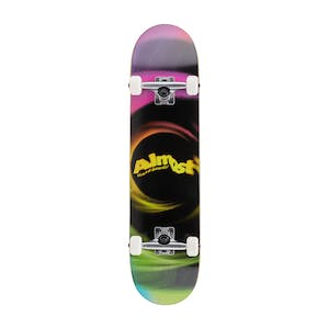 "Almost Smear Resin 7.75"" Complete Skateboard - Magenta/Green"