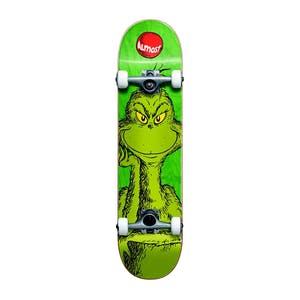"Almost x Dr. Seuss Grinch 7.25"" Complete Skateboard - Green"