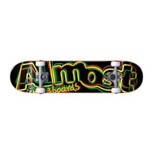"Almost Neon 8.0"" Complete Skateboard - Rasta"