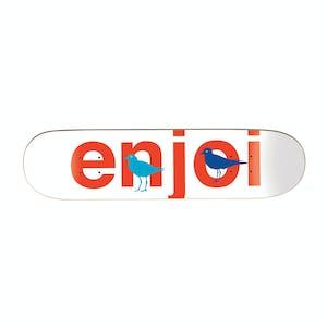 "Enjoi Bird Watcher 8.5"" Skateboard Deck - White"
