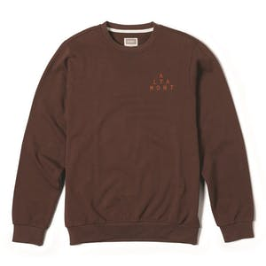 Altamont Antisec Fleece Crewneck — Burgundy