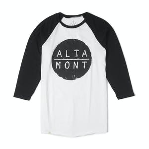 Altamont High Dosage Watered Raglan T-Shirt — White