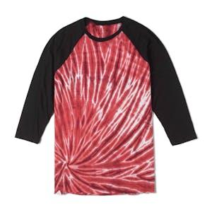 Altamont Clay Circle Tie-Dye Raglan T-Shirt — Burgundy