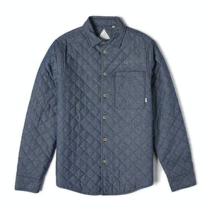 Altamont Vacant Quilted Flannel Shirt — Indigo
