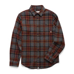 Altamont Binary Long Sleeve Flannel Shirt - Dark Navy
