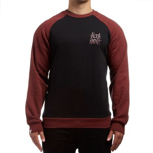 Altamont Minor Crewneck - Black/Red