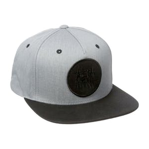 Altamont Stacked Snapback Hat - Black/Heather