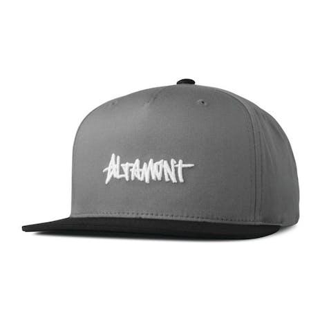 Altamont One Liner Snapback Hat - Grey / Black