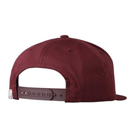 Altamont One Liner Snapback Hat - Oxblood