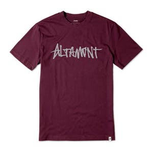 Altamont One Liner T-Shirt - Burgundy