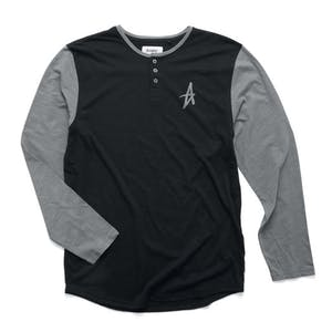 Altamont Spansive Long-Sleeve Henley T-Shirt - Black/Grey