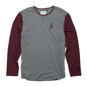 Altamont Spansive Long-Sleeve Henley T-Shirt - Grey/Burgundy