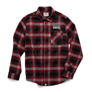 Altamont Sub Pop Long Sleeve Flannel Shirt - Red / Black