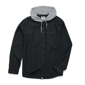 Altamont Wafford Hoooded Shirt - Denim
