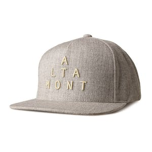 Altamont Alpha Snapback Cap - Grey/Heather