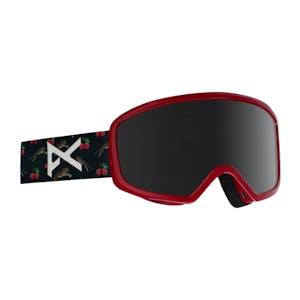 anon. Deringer MFI Women's Snowboard Goggle 2018 - Black Cherries / Dark Smoke