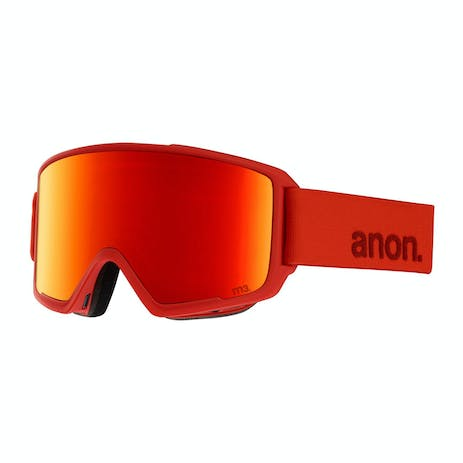Anon M3 MFI Snowboard Goggle 2019 - Red / Sonar Red + Spare Lens