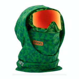 Anon MFI Kids' Hooded Helmet Balaclava - Green Skull
