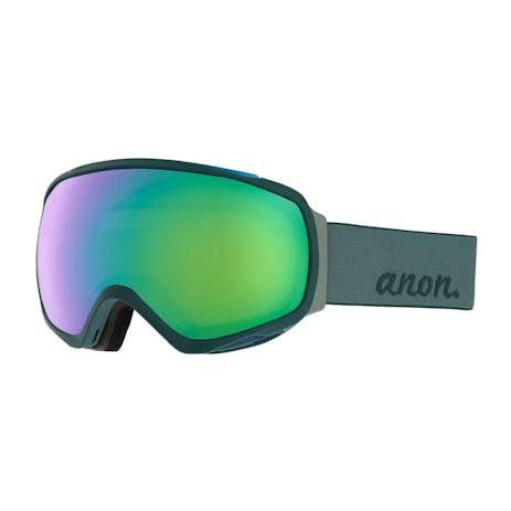 Anon Tempest MFI Women's Snowboard Goggle 2019 - Grey / Sonar Green