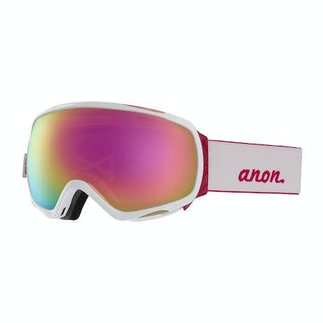 Anon Tempest Women's Snowboard Goggle 2019 - White / Sonar Pink