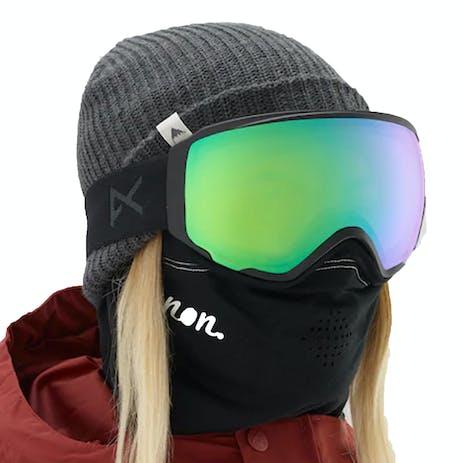 Anon WM1 MFI Women's Snowboard Goggle 2019 - Smoke / Sonar Green + Spare Lens