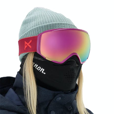 Anon WM1 MFI Women's Snowboard Goggle 2019 - Magenta / Sonar Pink + Spare Lens
