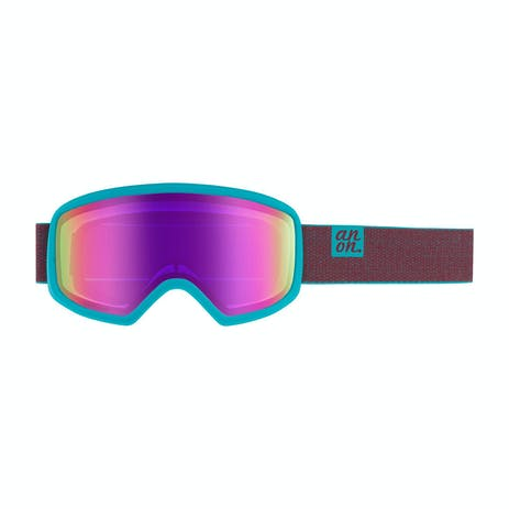 Anon Deringer Women's Asian Fit Snowboard Goggle 2020 - Shimmer / Sonar Pink + Spare Lens