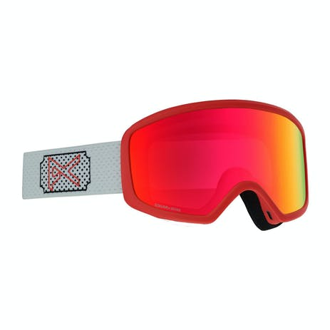 Anon Deringer Women's Asian Fit Snowboard Goggle 2020 - White Rose / Sonar Pink + Spare Lens