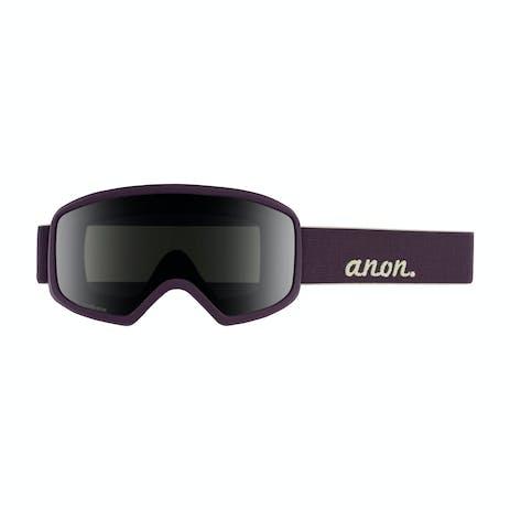 Anon Deringer MFI Women's Snowboard Goggle 2020 - Purple / Sonar Smoke + Spare Lens