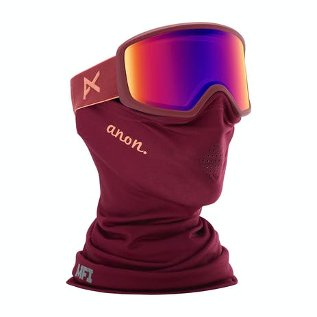 Anon Deringer MFI Women's Snowboard Goggle 2020 - Ruby / Sonar Blue + Spare Lens