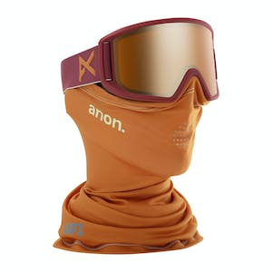 Anon Relapse MFI Snowboard Goggle 2020 - Maroon / Sonar Bronze + Spare Lens
