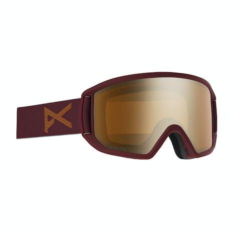 Anon Relapse MFI Snowboard Goggle 2020 - Maroon / Sonar Bronze + Spare Lens