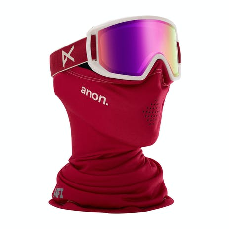Anon Relapse Jr. MFI Youth Snowboard Goggle 2020 - Berry / Pink Amber